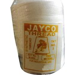 Dyed White Heavy Synthetic Thread, for Textile Industry