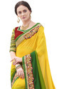 Yellow & Green Saree