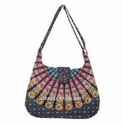Indian Mandala Handbag, Handmade Girls Tote Bag