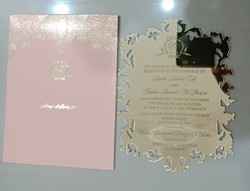 Acrylic Invitation Card