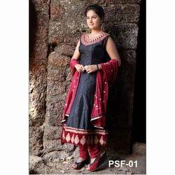 Pure Silk Salwar Kameez Manufacturer from Mumbai