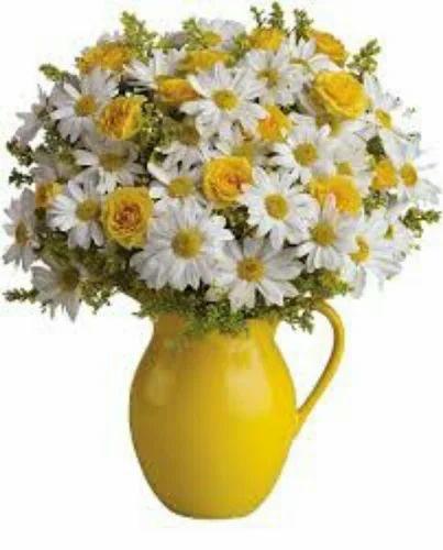 Decorative flower pot flower pot service provider from pune yellow flower pot mightylinksfo