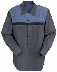Plain Automobile Uniform Shirt, Size: Large