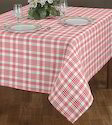 Checked Yarn Dyed Table Cloth