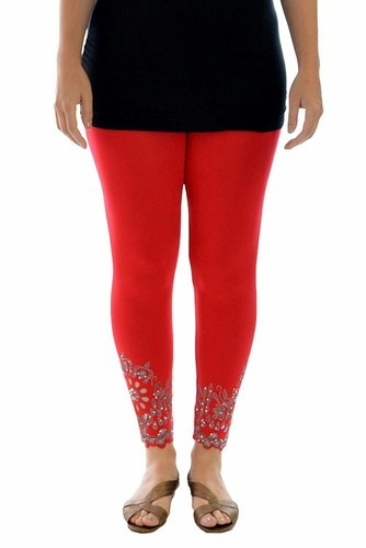 68dffdb73b3c4 All Cotton Womens Designer Leggings, Size: All, Rs 150 /piece | ID ...