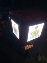 LED Motorcycle Food Delivery Box