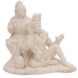 Shiv Parivar Sitting In Resin  Statue