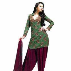 Chiffon Stitched Punjabi Suits