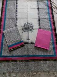 Plain Chanderi Suit with Rich Looking Dupatta