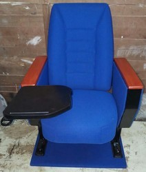 Blue Seat Tablet Arm Chair