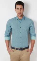 Peter England Blue Plain Shirt