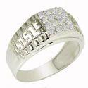 SHRI0583 Silver Men's Ring