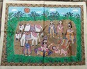 Madhubani Painting Of The Scene Of Sita's Birth