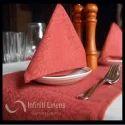 Red Polyester Jacquard Dinner Napkin