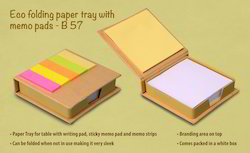 ECO - Folding Paper Tray with Memo Pads