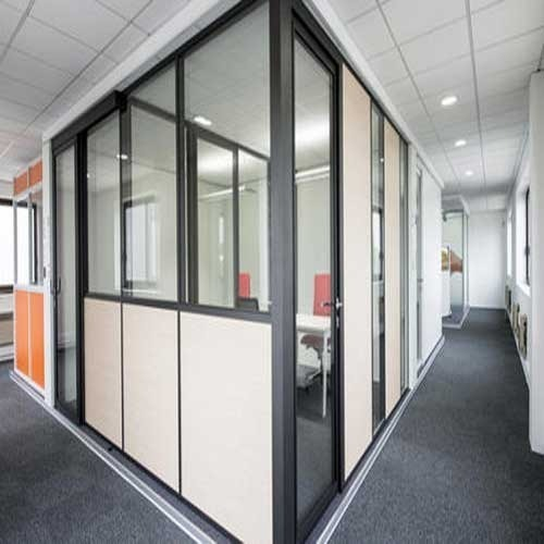 Aluminium Office Glass Partition at Rs 215 /square feet | Dharavi ...