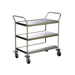 Vertex Stainless Steel/ Mild Steel Fabrication Trolley, for Industrial