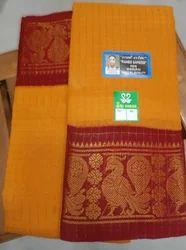 Madurai Sungudi Jari Checks Saree