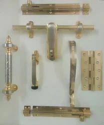 Brass door set
