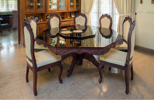 Octagon Dining Table Set
