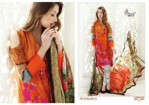 3acfa4e0083bd Printed Orange Catalogue Dress Material, Rs 750 /piece, Shagun ...