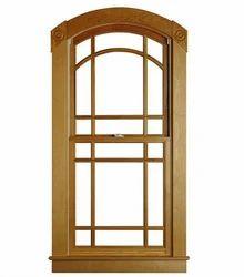 Brown Modern Wooden Window