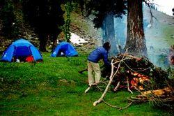 Camping In Great Himalayas