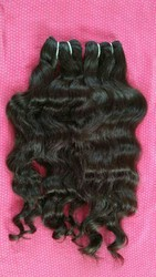 Raw Wavy Human Hair Extensions From Indian Temple