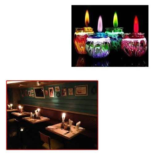 Colourful Candles For Restaurant Manufacturer From New Delhi