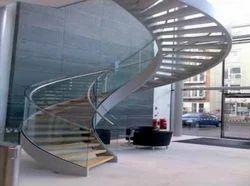Round Design Stair Railing