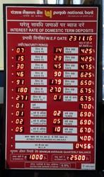 Red PNB Electronic Interest Rates Board, Input Voltage: 220v, Resolution: High