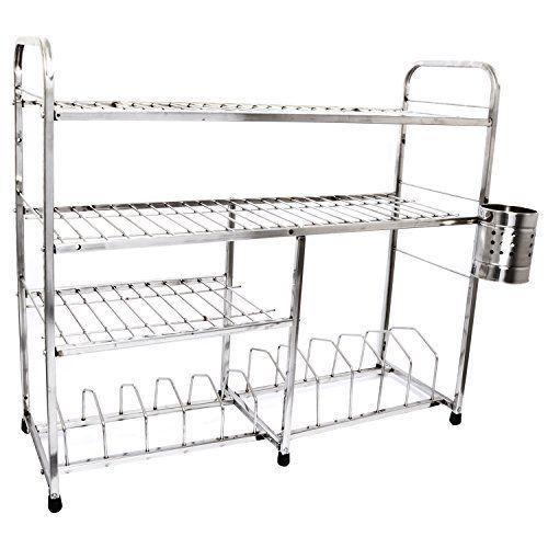 Steel Utensil Rack, Kitchen Shelf Organizer, Kitchen Storage ...