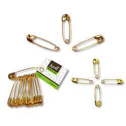 Jyoti Safety Pin - Steel & Brass- Golden - 0 to 4