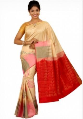 ab3f534d852d76 Cream Colored Soft Silk Saree at Rs 6750 | Pure Silk Sarees | ID ...