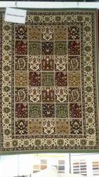 Printed Rectangular Kashmiri Silk Carpet