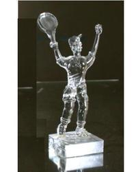 Man Glass Statue