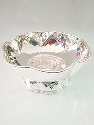 Silver Plated Flower Bowl Big