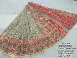 Casual Wear Silk Cotton Cotton Zari Border Saree, 6.3 m (with blouse piece), Without Blouse