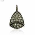 Diamond Pave Bell Charm Pendant