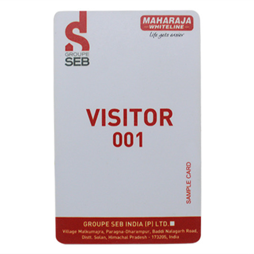 visitor id card पहच न पत र sarthak cardtech systems pvt