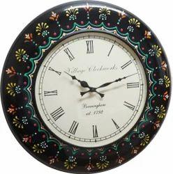 Wood Painted Wall Clock
