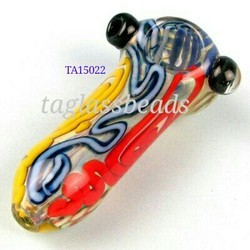 Double Blown Glass Smoking Pipe