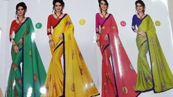 Synthetic Saree, Machine Made