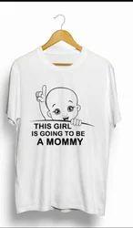 Cotton Half Sleeve Printed Maternity T Shirt