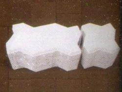 White Zig Zag Brick