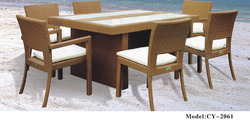 CY-2061 Aluminium Dining Set, For Home, Seating Capacity: 6 Person
