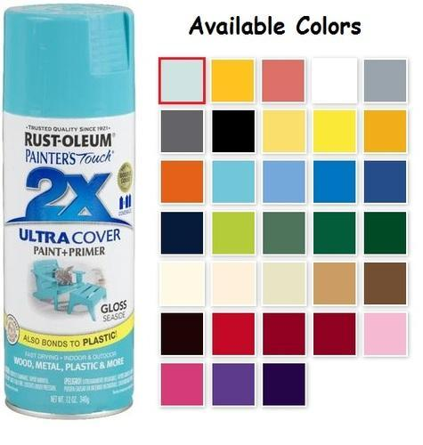 Rustoleum Spray Paint Color Selection - spray painting