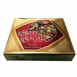 纸板矩形印花甜盒
