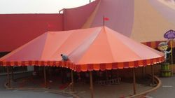 Plain Polyester Outdoor Canopy, for Party, Capacity: Greater than 10