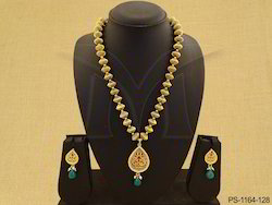 Peacock Designer Single Thewa Necklace